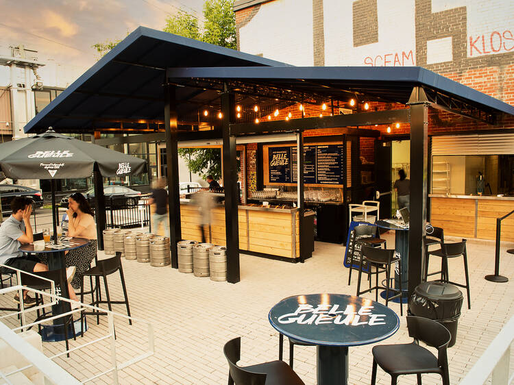 The biggest terrasse in the Plateau is hosting an Oktoberfest with a German feast