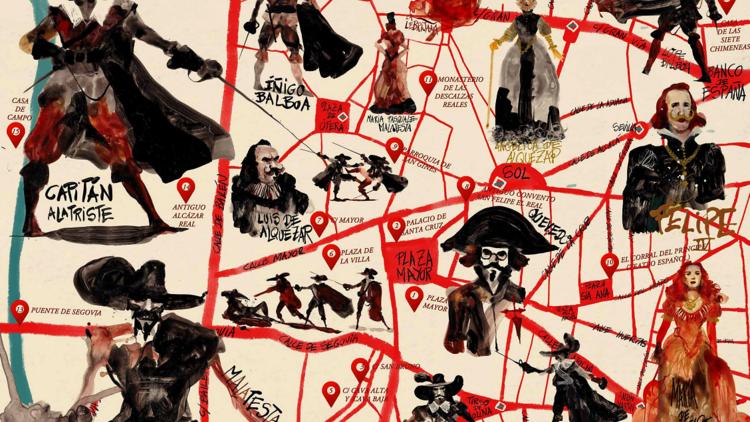 Mapa ilustrado Capitán Alatriste