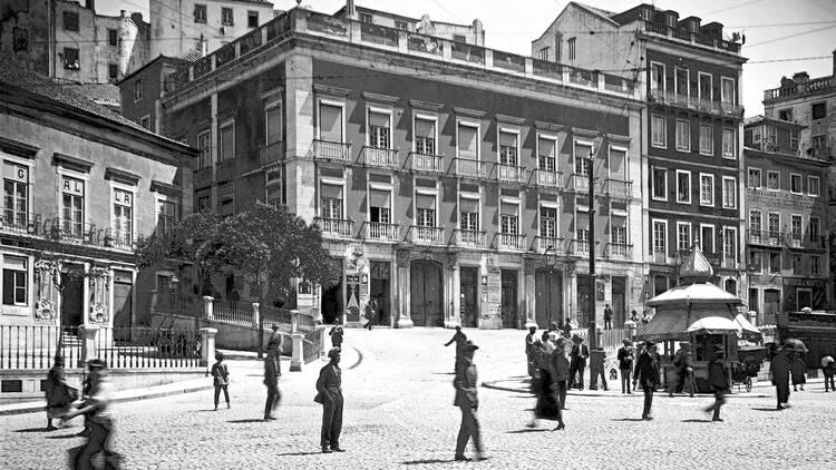 Pátio das Antigas, Lisboa Antiga, Palácio Regaleira, Largo de São Domingos