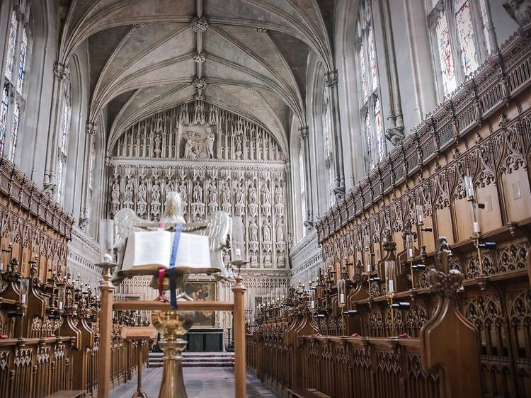 Attend candle-lit Evensong at Magdalen College