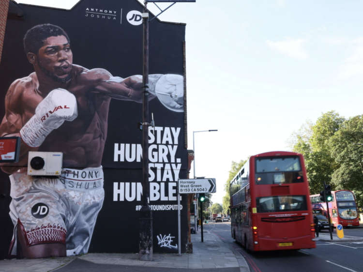 Huge Anthony Joshua mural unveiled in Tottenham ahead of Saturday's big fight