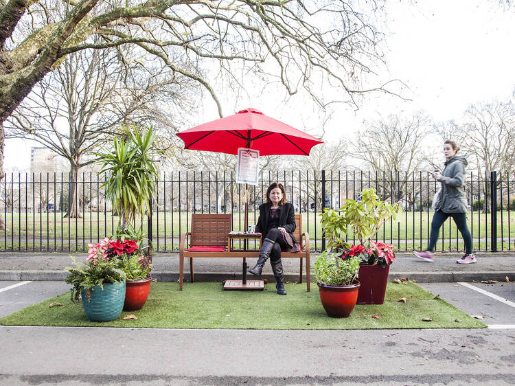 'Parklet' campaigners urge Londoners to reclaim car spaces this weekend