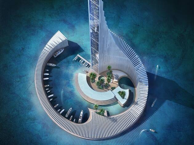 Is this 'domino tower' the most OTT island resort in the world?