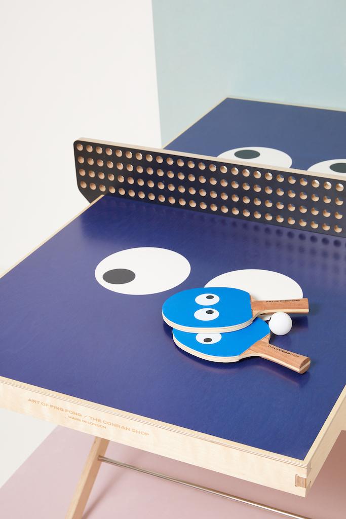 コンランショップから卓球台をイメージしたアートテーブルが登場