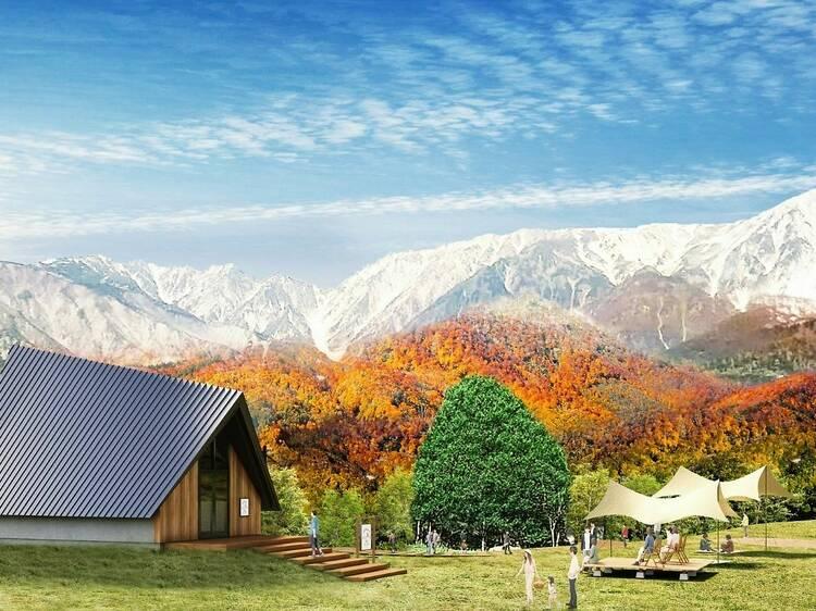 Hakuba Iwatake opens a new observation area with stunning mountain scenery