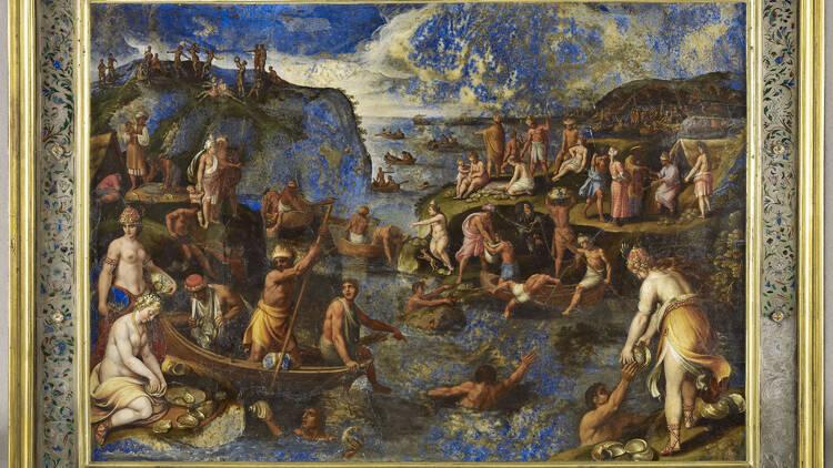 Antonio Tempesta, La Pêche aux perles aux Indes (détail) © RMN-Grand Palais (Musée du Louvre) / T. Ollivier.