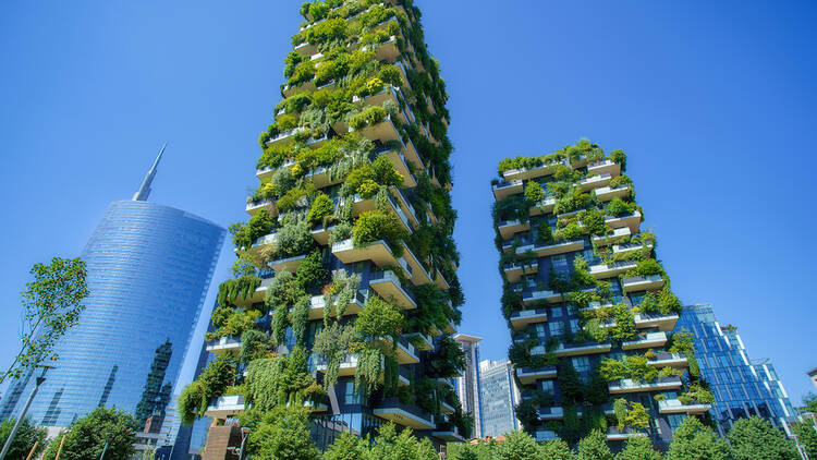 Bosco Verticale (Vertical Forest) in Milan, Italy