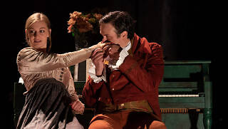 Arielle Yoder and Jamie Smithson in Persuasion