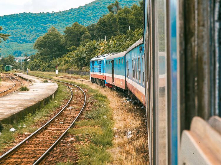 Reunification Express from Hanoi to Saigon, Vietnam