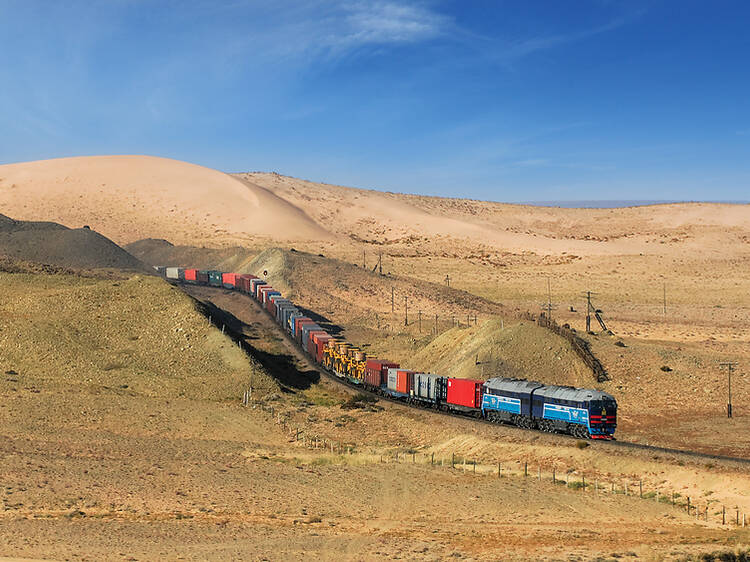 Trans-Mongolian Railway from Moscow to Beijing