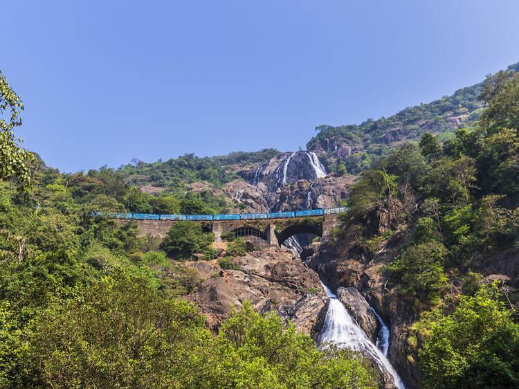 Mandovi Express from Mumbai to Madgaon, India
