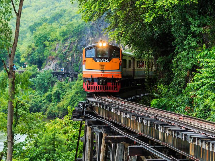 The Death Railways from Bangkok to Nam Tok, Thailand