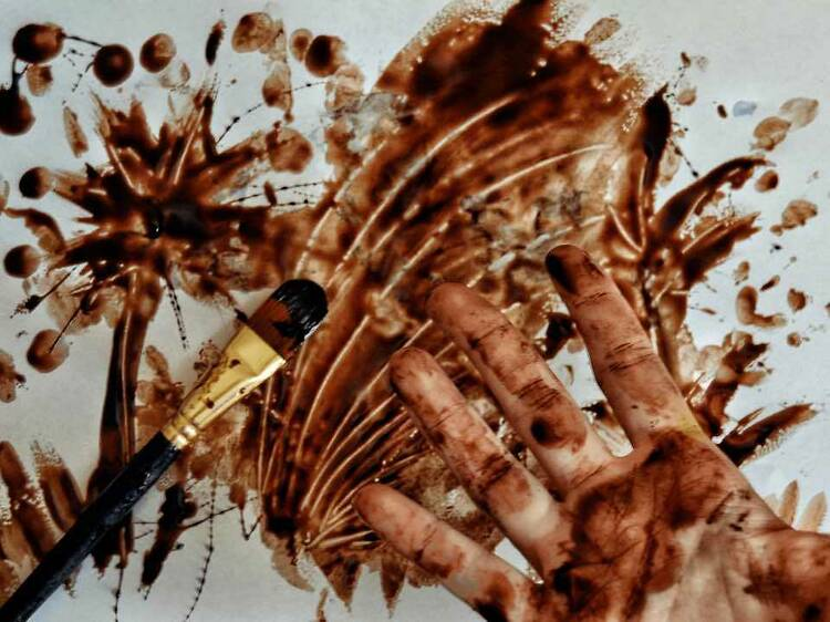 Pintar con chocolate