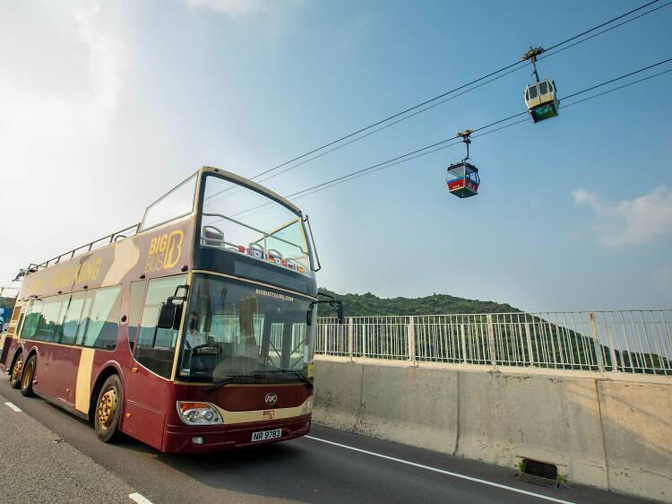 360纜車「敞篷觀光巴士黃昏遊」