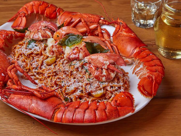 Anassa's lobster spaghetti