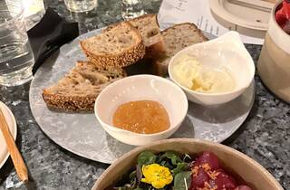The Clark Street bread plate at Kensho in Hollywood.