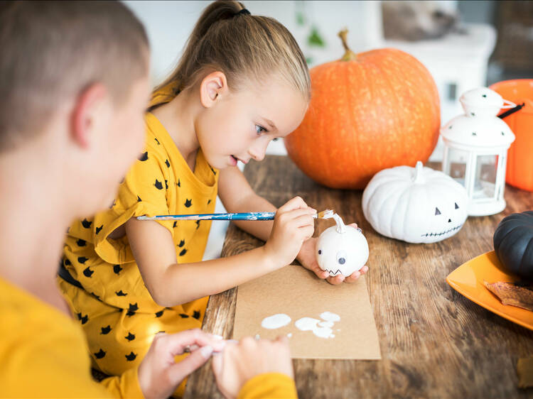 Pumpkin Decorating at Time Out Market Miami