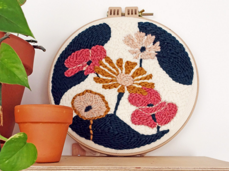Learn how to embroider beautiful flowers and patterns