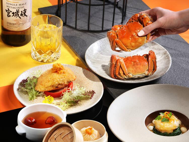 Sing Yin's hairy crab x Nikka whisky pairing dinner