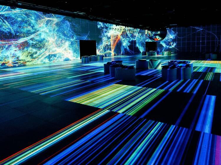 Walk through cavernous rooms of digital art