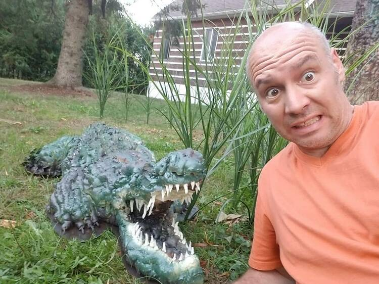 Check out this local's jungle Halloween house