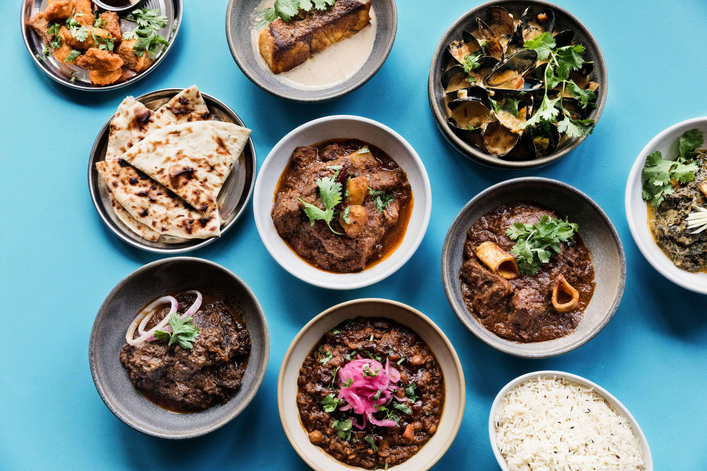 A food spread at Badmaash.