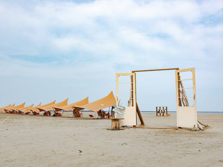 Read by the sea at this pop-up library on Oarai Sun Beach in Ibaraki