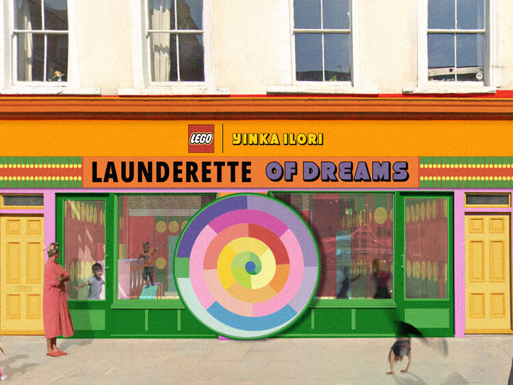 Yinka Ilori collabs with LEGO for kid-friendly Launderette of Dreams playspace