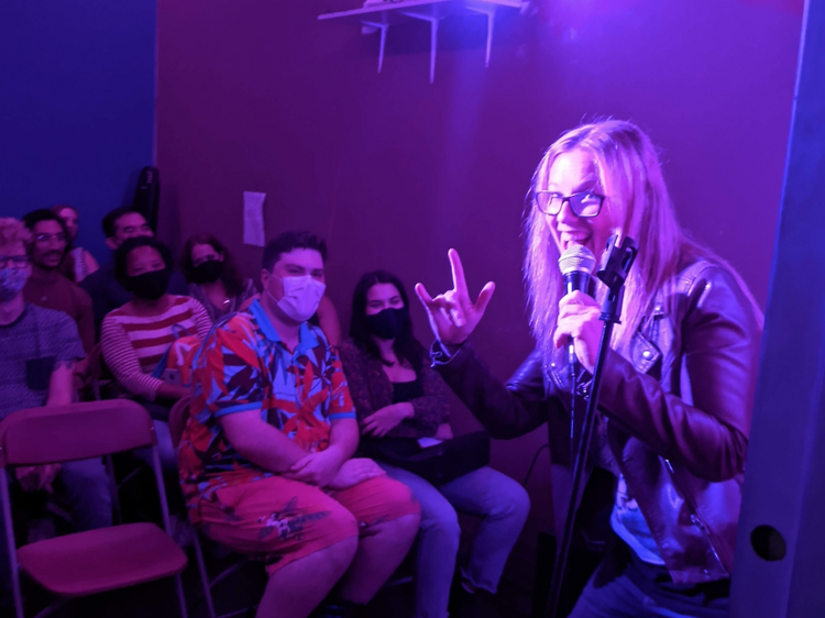The tiniest comedy room in NYC