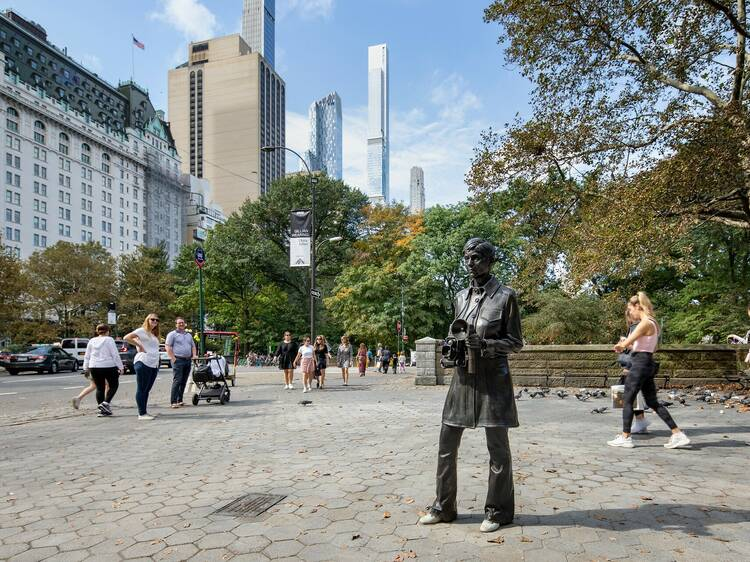 The second-ever statue of a real-life woman in Central Park has just been unveiled