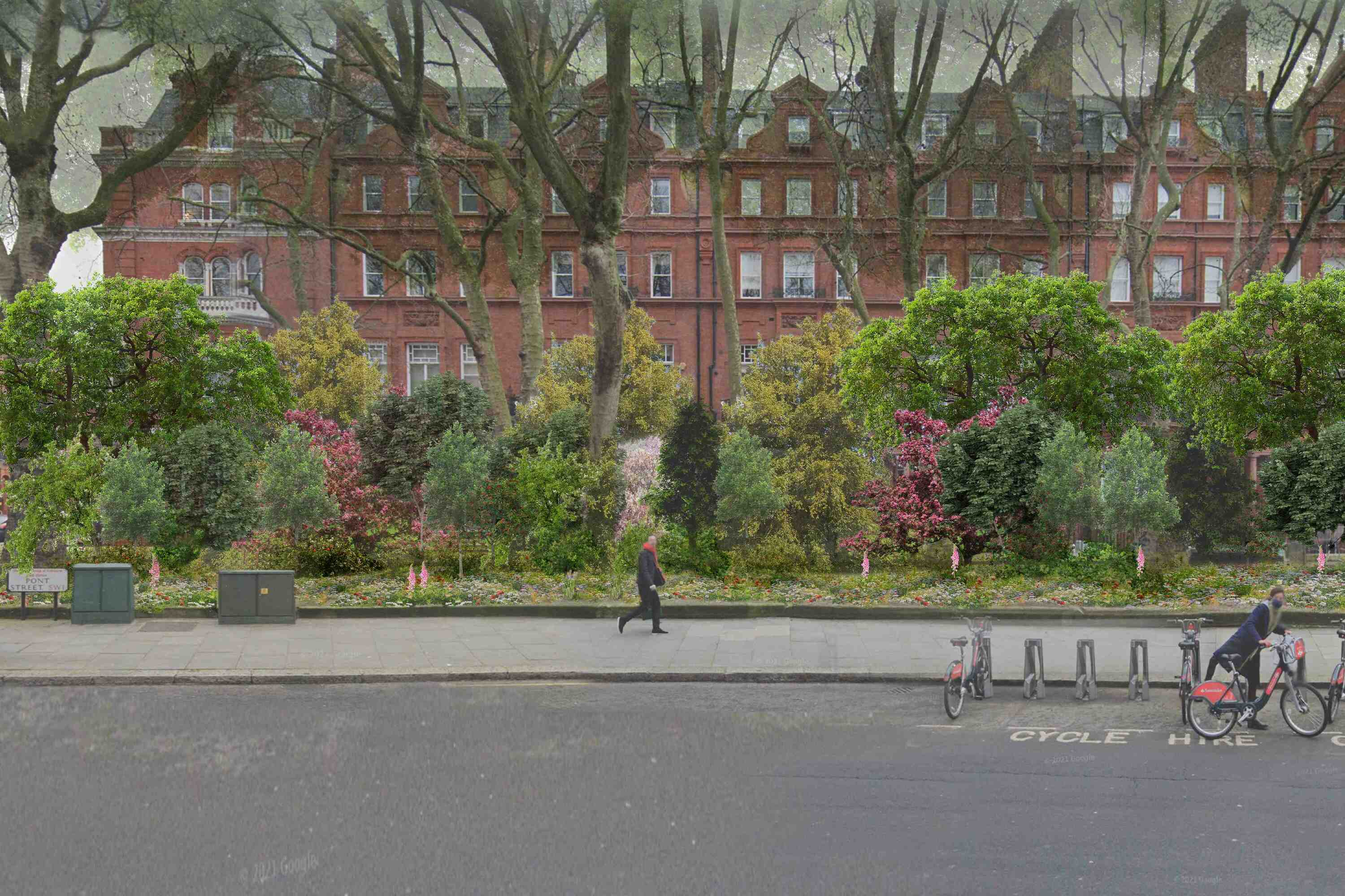 A mini forest is being planted in the middle of Chelsea