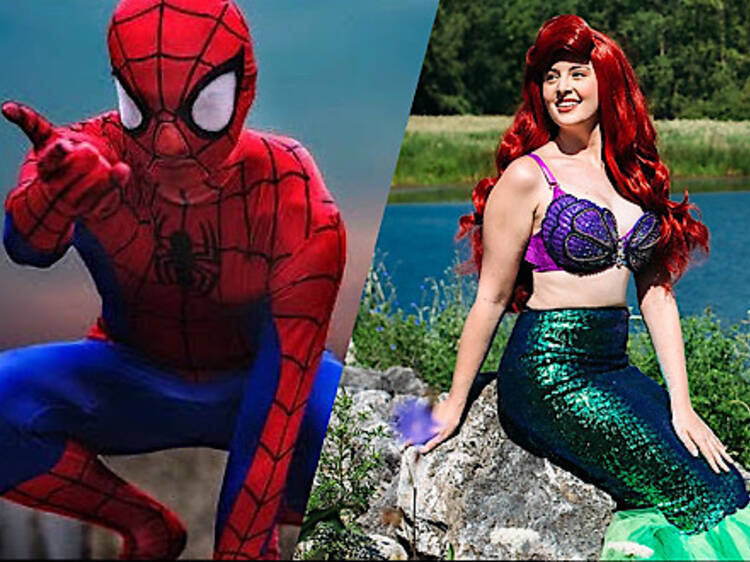 Halloween Storytime with Spide-Man and Ariel