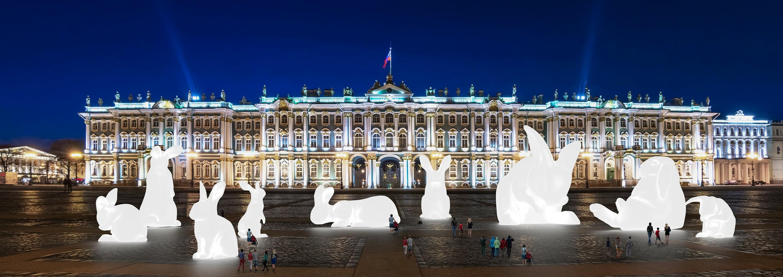 Enormes conejitos blancos iluminados llenarán la Puerta del Sol