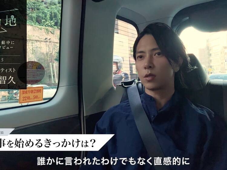 山下智久がタクシーサイネージを活用したドキュメンタリー映像に登場