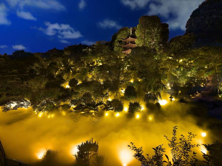 Sea of Clouds and garden light up at Hotel Chinzanso Tokyo
