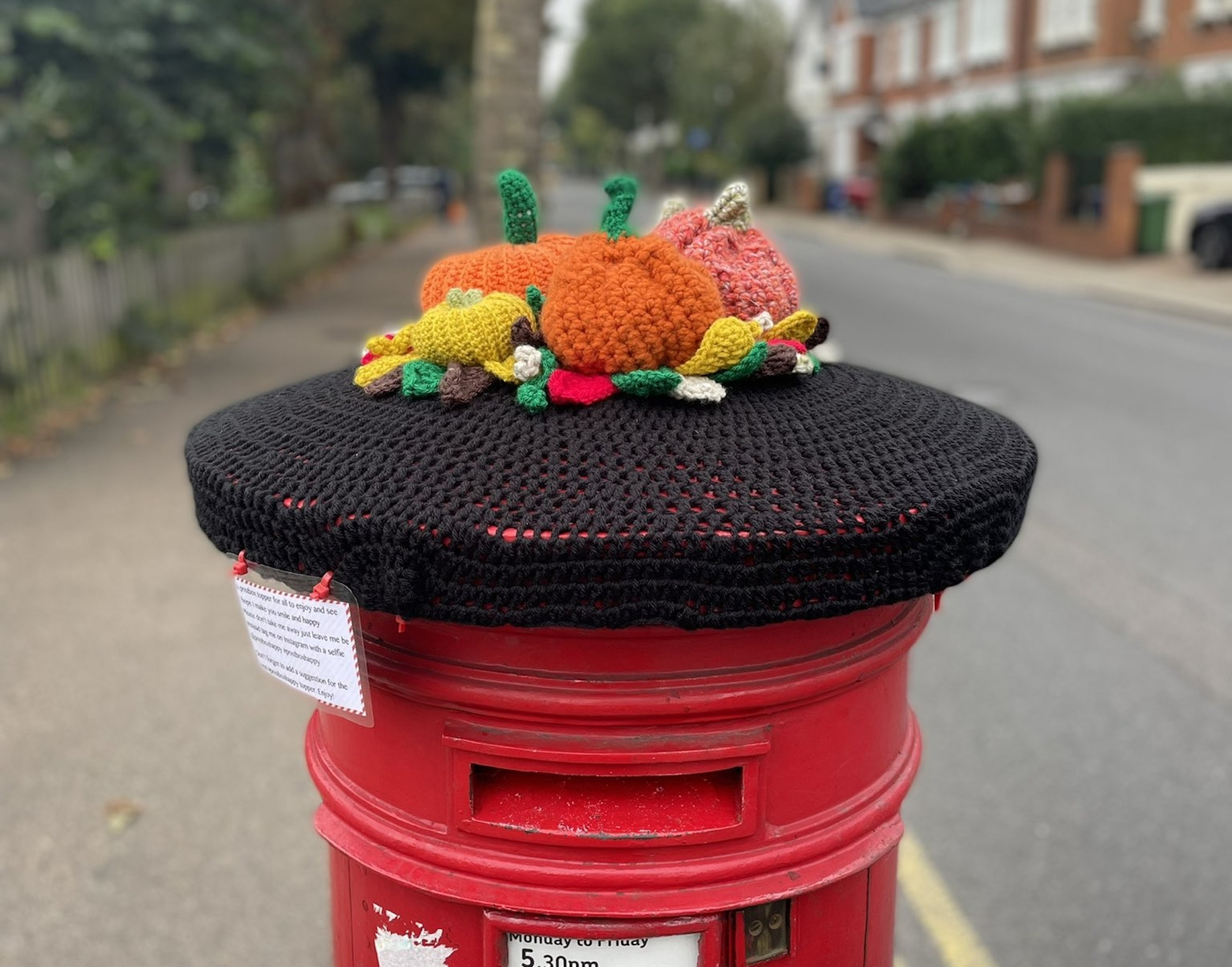 Crochet hats for postboxes are taking over south London