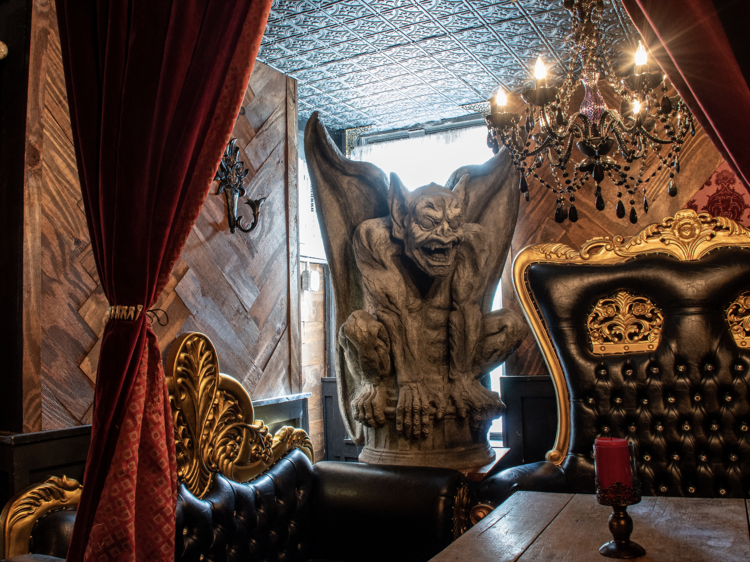 A new hell-inspired absinthe bar is now open in the East Village