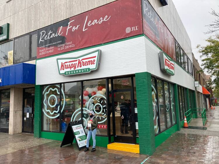 Krispy Kreme is opening its first-ever shop in Queens today