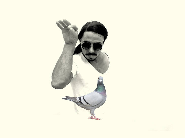 This is not a drill: Salt Bae is in the park feeding pigeons