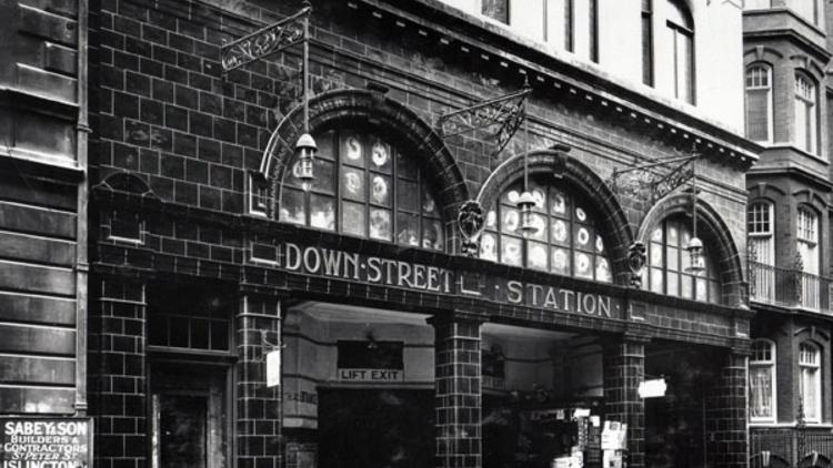 Down Street station (© London Transport Museum)