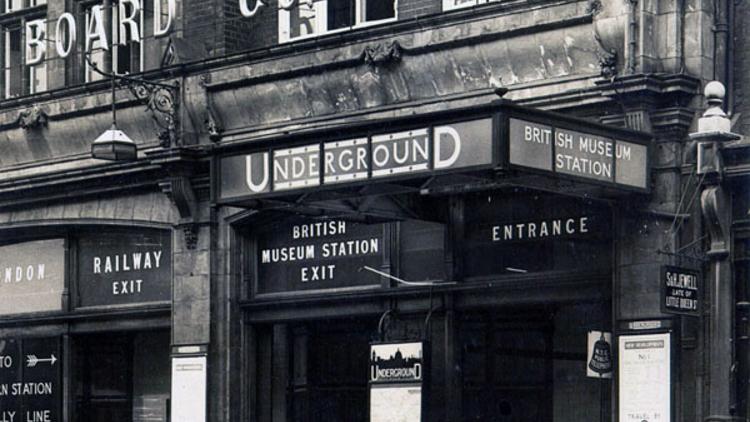 British Museum station (© London Transport Museum)