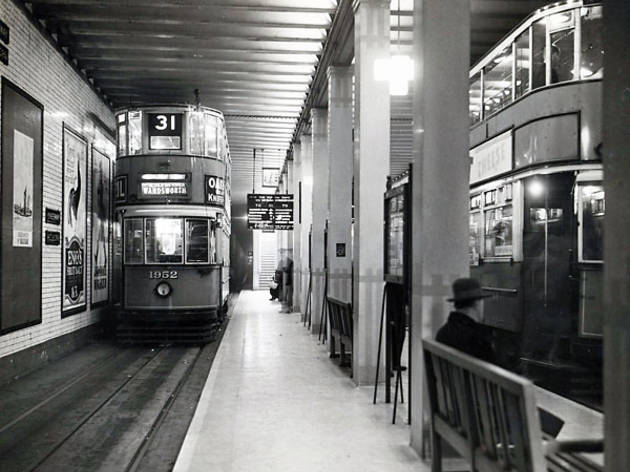 Kingsway tram tunnel (© London Transport Museum)
