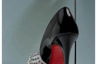 Christian Louboutin Engin Spikes Patent PVC Peep Toe Pump Sp.jpg