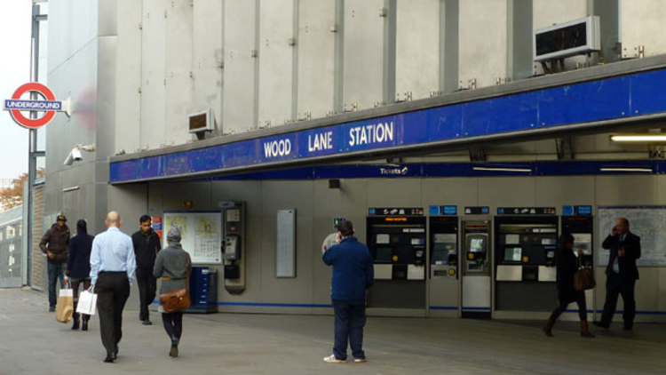 Wood Lane Station today (© Abigail Lelliott)
