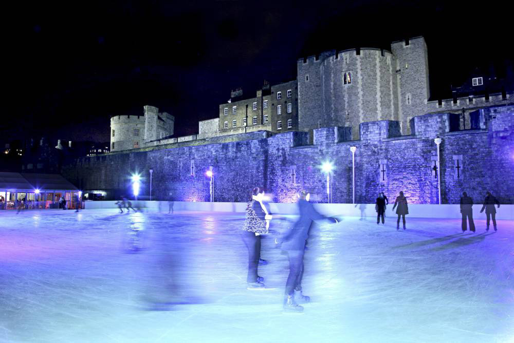 Trying to ice skate at London's icy rinks