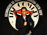 Jerry Seinfeld on stage at the Comedy Store