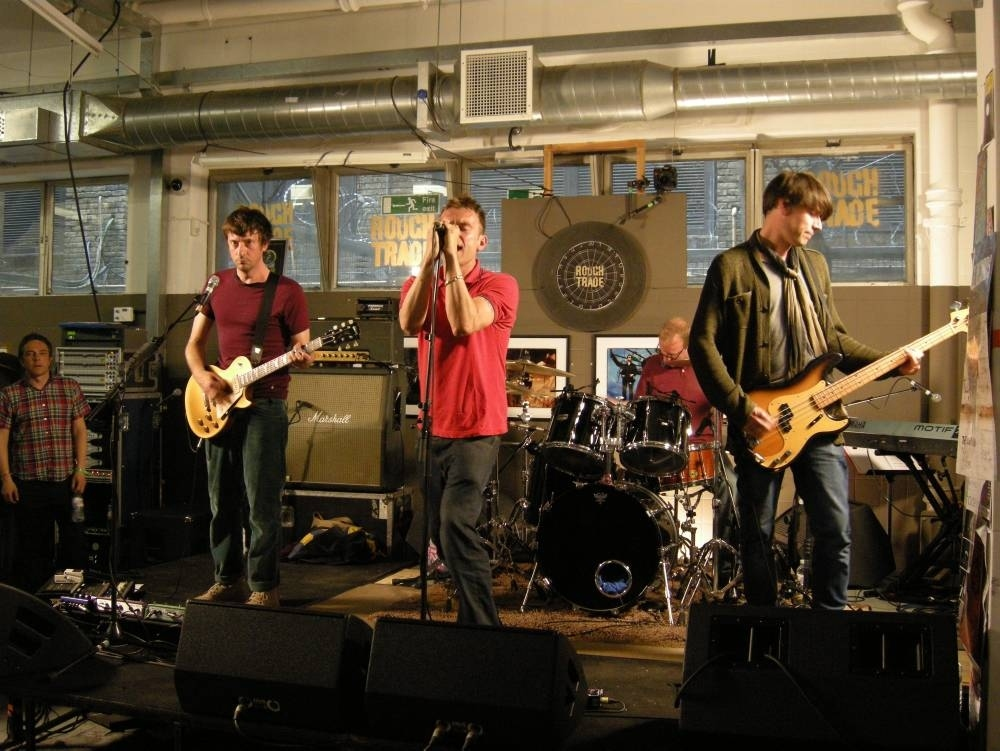 Blur performing at Rough Trade East