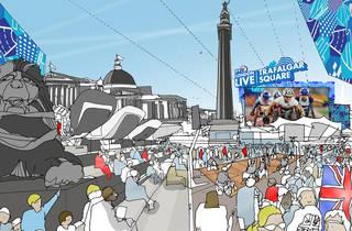 London Live: Trafalgar Square