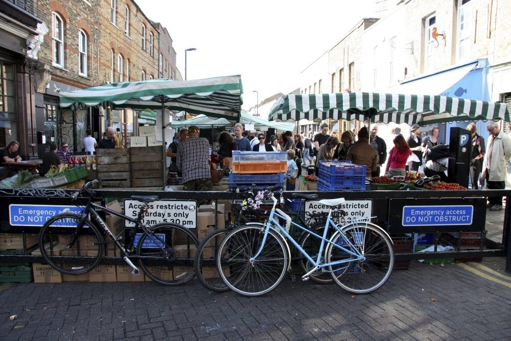 Enjoy a cuppa at Broadway Market