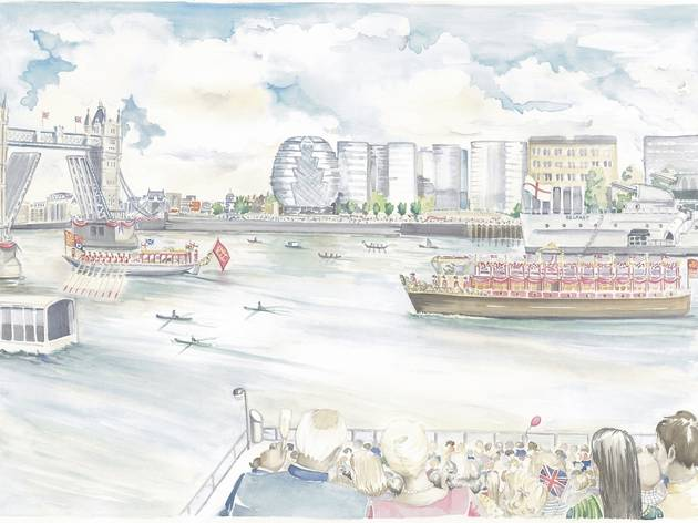 The Queen's Diamond Jubilee River Pageant: VIP Seating at Sugar Quay Jetty SOLD